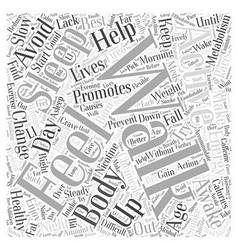 Activities Promoting Healthy Aging Word Cloud vector