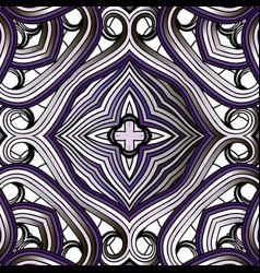 Arabesque line art tracery seamless pattern vector