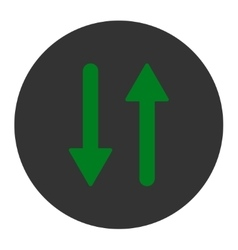 Arrows Exchange Vertical flat green and gray vector