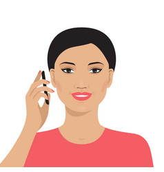 asian woman talking on the mobile phone vector image