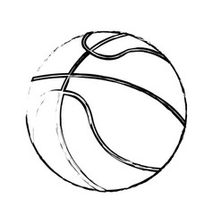 Basketball sport ball image sketch vector
