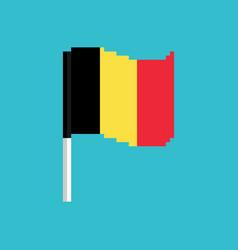 belgium pixel flag pixelated banner belgian vector image