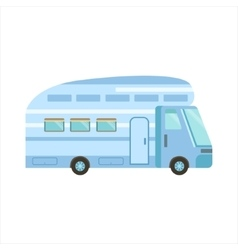 Blue Modern Travel Van vector