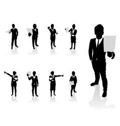 business people paper vector image