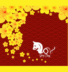Chinese new year template background year of the vector