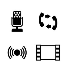 connection simple related icons vector image