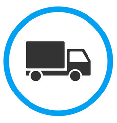 Delivery lorry rounded icon vector