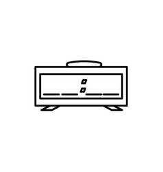 digital alarm icon vector image