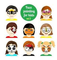 Face painting 8 vector