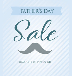 Fathers day sale striped background vector
