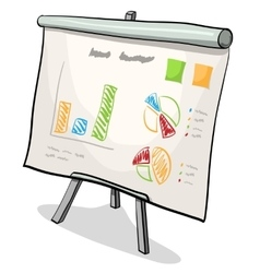 financial board with presentation graph vector image