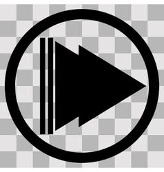 Flat black singl icon play forward vector image