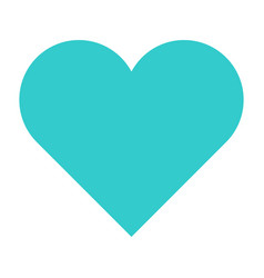 Flat heart icon love sign favorite button vector