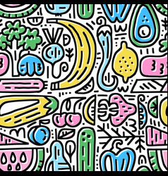 fresh food pattern vector image