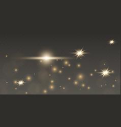 golden sparks glitter light effect ssparkles on vector image