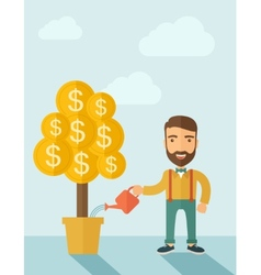 Growing Businessman vector image