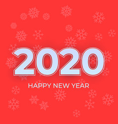 happy new year 2020 logo text design cover of vector image