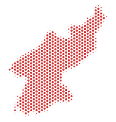 Hexagonal north korea map vector