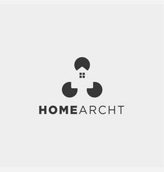 home architect logo minimalis design icon element vector image