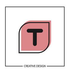 Initial letter t logo template design vector