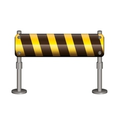 Isolated barrier road sign design vector