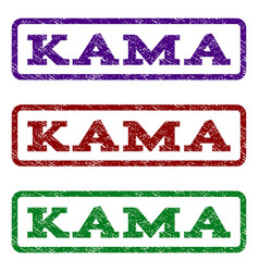 Kama watermark stamp vector