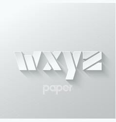 Letter w x y z logo alphabet icon paper set vector