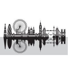 London city skyline 7 vector