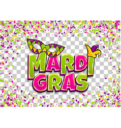 Mardi gras colofred confetti background vector