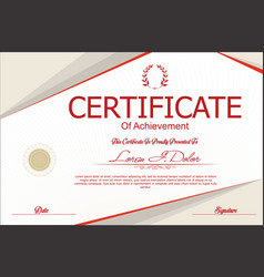 Modern certificate or diploma template 2 vector