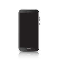 Modern realistic black smartphone smartphone with vector