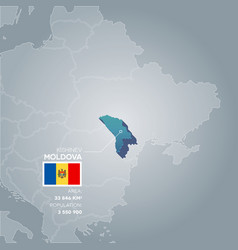 Moldova information map vector