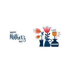 Mother day cute flower garden web banner art vector