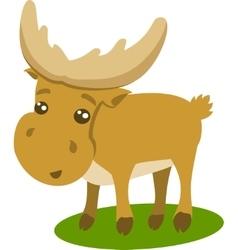 Of Beautiful Cartoon Reindeer vector image