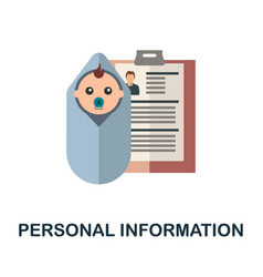 Personal information icon flat sign element from vector