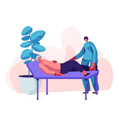 physical therapy service in nursing home vector image