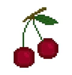 Pixel cherry vector