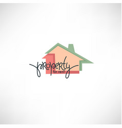 property for rent property symbol logo and icon vector image