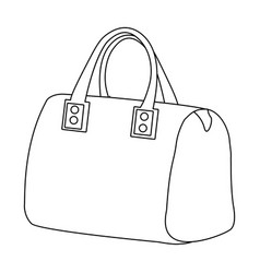 Red lady s bag with handles ladies accessory vector