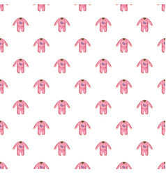 romper for baby pattern vector image