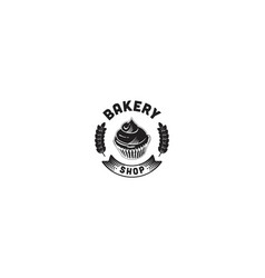 round label vintage bakery logo vector image