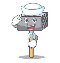 sailor character of metallic meat tenderizer vector image