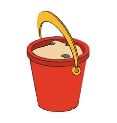 Sand bucket isolated vector
