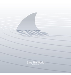 Save the sharks vector