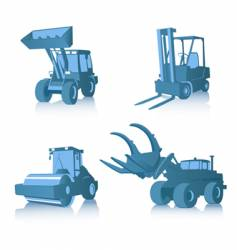 set of industrial machines vector image