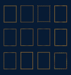 Set of luxury golden frames and borders set set vector