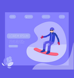 snowboarder - winter sport and vector image