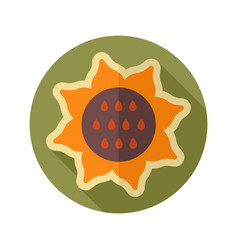 Sunflower flat icon vegetable vector