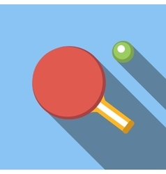 Table tennis flat icon vector image