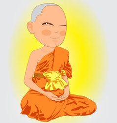Thai Monk vector
